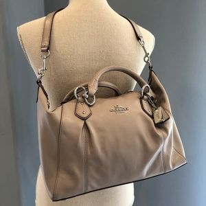 COACH Colette Leather Carryall Satchel Tote Bag